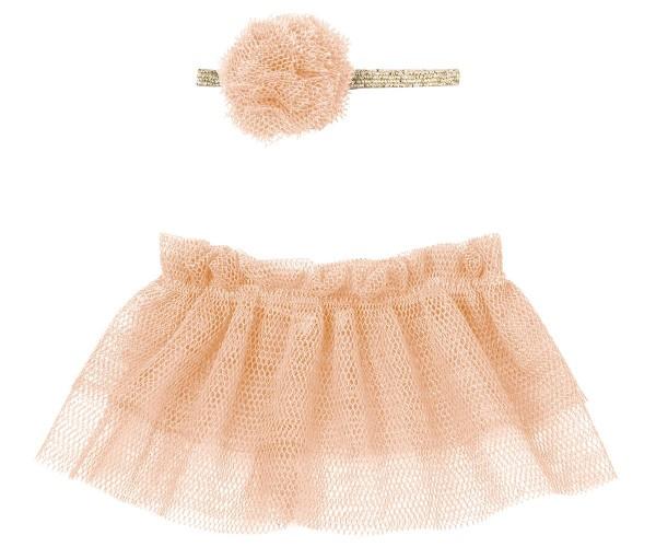 Maileg Hasenkleidung Tutu und Haarband Mini rose