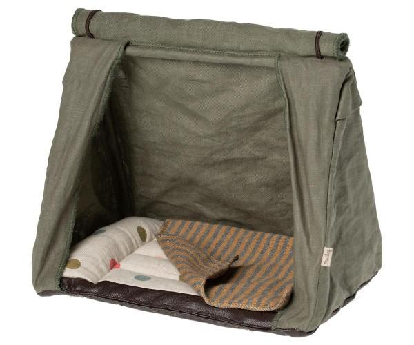 Maileg Happy Camper Zelt mit Decke, mouse