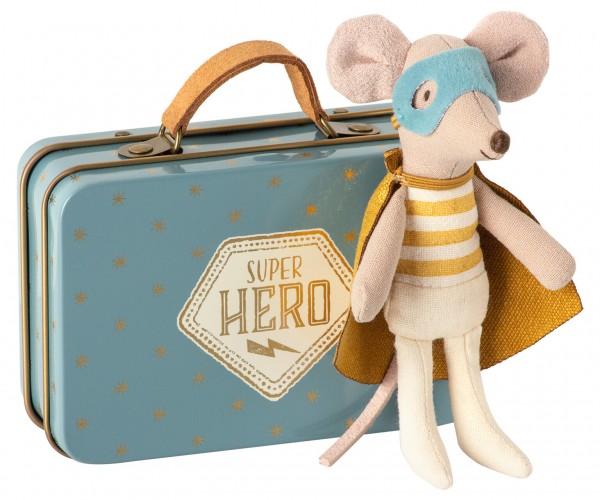 Maileg superhero Maus in Koffer