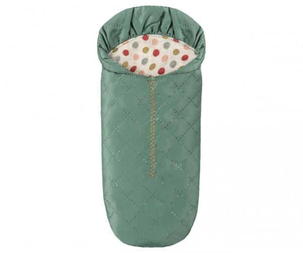 Maileg Sleeping bag, Mouse - Petrol
