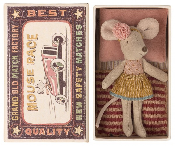 Maileg Mouse, little sister in a box