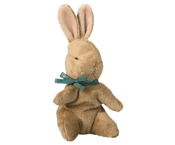 Maileg Baby Bunny with blue ribbon