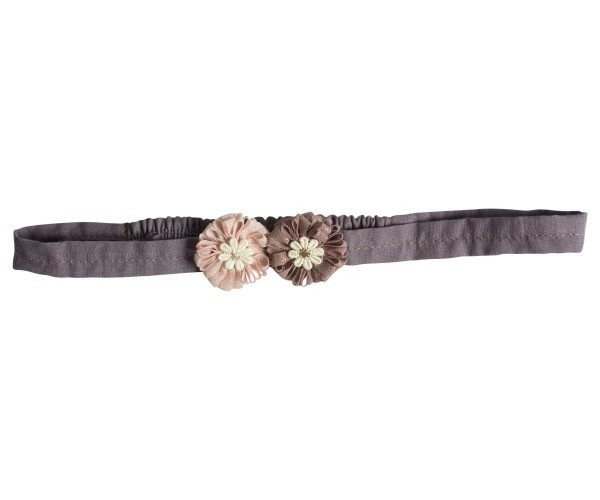 Maileg Hairband Flower rose and brown