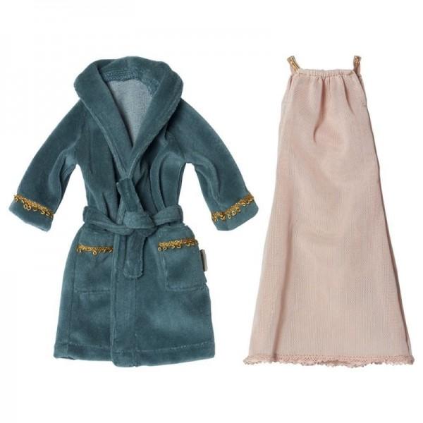 Maileg Ginger Mom size 1 nightdress and bathrobe