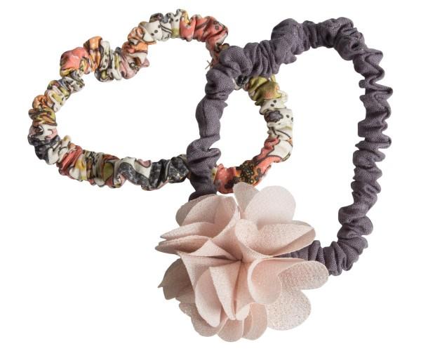 Maileg Haargummiset 2 Stck. mit fluffiger Blume altrosa
