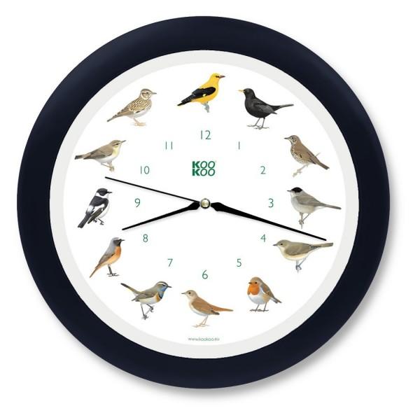 KooKoo Uhr Singvogel schwarz