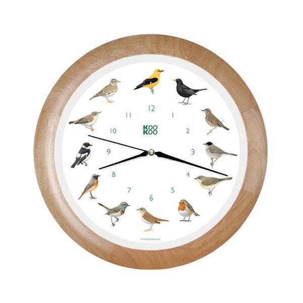 KooKoo Uhr Singvogel Holz