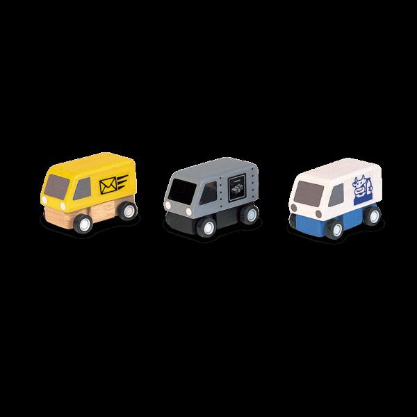 PlanToys - Lieferwagen 3 Stck.