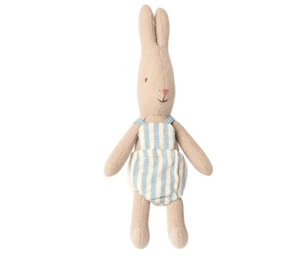 Maileg Rabbit micro mit Streifenoverall