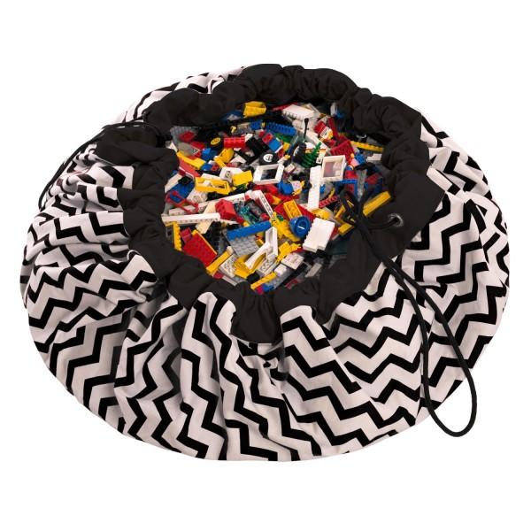 Play&Go Spielsack zig zag black