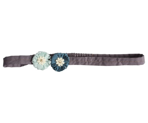 Maileg Hairband Mini Flowers Aqua