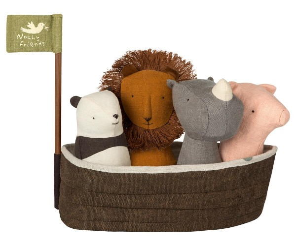 Maileg NOAH'S ARK, with 4 Rattles