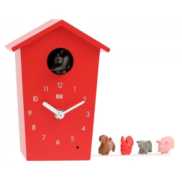 """KooKoo Uhr Animal House """"red"""""""