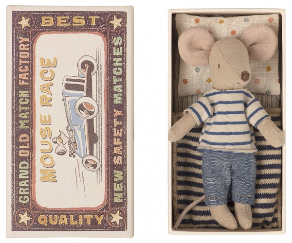 Maileg Mouse, big brother in box