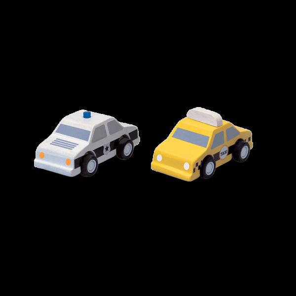 PlanToys - Taxi und Polizeiauto