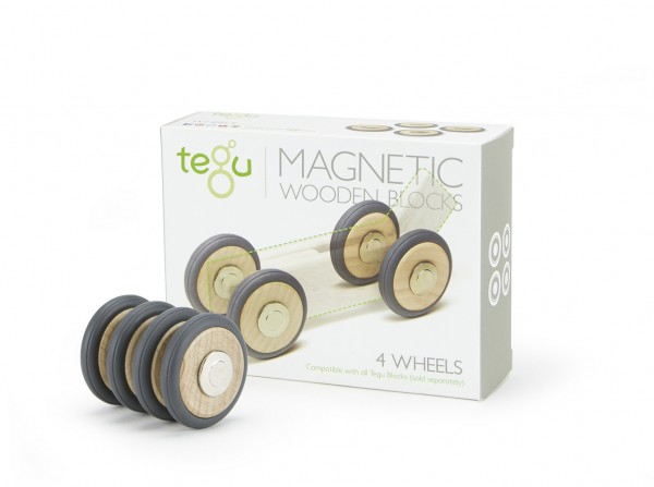 Tegu Magnet Räder Wheels Set of 4