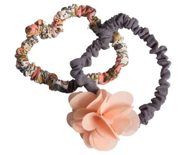 Maileg Haargummiset 2 Stck. mit fluffiger Blume rose
