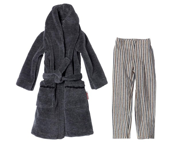 Maileg Ginger size 1 Dad PJ pants and bathrobe