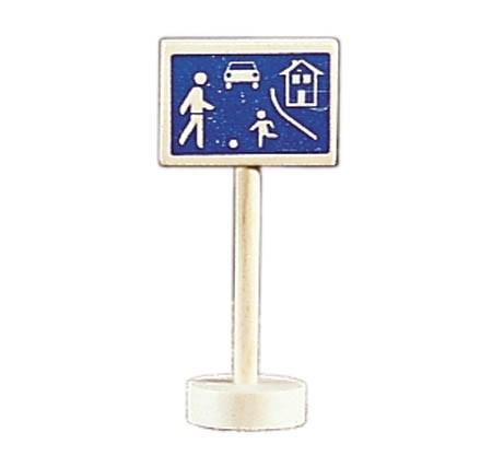 Glückskäfer - Verkehrszeichen verkehrsberuhigter Bereich