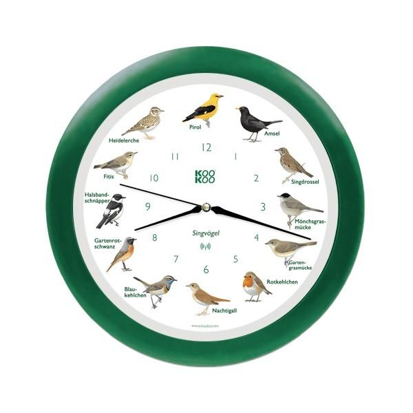 KooKoo Uhr Singvogel grün RC-Funk